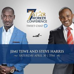 Join @jimitewe  @iamsteveharris on Twitter by 7pm tomorrow gor a pre-cursor to what is going to happen on Monday at the #7starworkerconference Follow me @jimitewe and @iamsteveharris for an explosive pre-conference session. #business #career #ThrivingInAChallengingEconomy