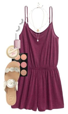 """""""Leave for the beach tomorrow!! I might not be posting a whole lot this week"""" by erinlmarkel ❤ liked on Polyvore featuring River Island, MAC Cosmetics, Jack Rogers, Essie and Kendra Scott"""