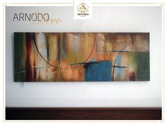 Los cuadros rectangulares abstractos son una opción ideal para salas y dormitorios
