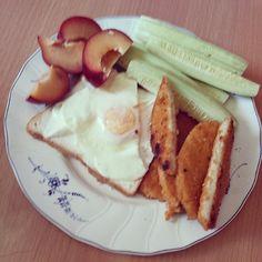 #Meal of the day! #Toast #labanh #egg #chicken #فكوس #برقوق #Amman #Jordan