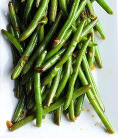Cold Garlic & Sesame Soy Marinated Green Beans