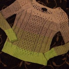 American Eagle Ombré Sweater Amazing condition ! Such unique colors. American Eagle Outfitters Sweaters Crew & Scoop Necks