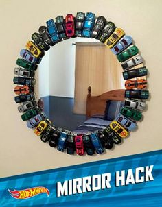 Super Awesome Hot Wheels mirror! What boy wouldn't love this!?