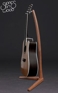 Spotted Gum Guitar Stand