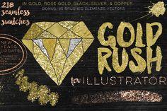 Gold Rush For Illustrator by Studio Denmark on @creativemarket
