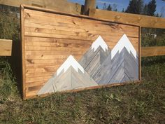 Mountain art created by a mountain man. Mountain Art, Three Sisters, All Over The World, Ship, Mountains, Design, Home Decor, Decoration Home, Room Decor