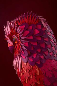 Les animaux de papier et de cuir par Zim&Zou