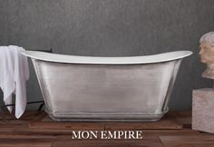 Mon Empire Cast Iron Bath with Hand Polished Exterior