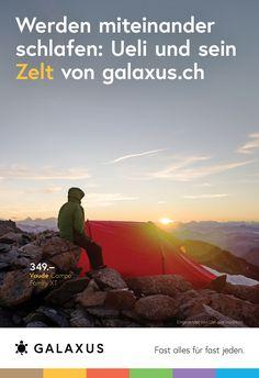 Werden miteinander schlafen: Ueli und sein Zelt von Galaxus #GalaxusLive #Galaxus