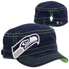 New Era Seattle Seahawks Chic Cadet Women s Military Hat bc8e76b08