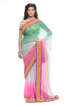 FABRIC : GEORGETTE COLOUR : PINK   WEAR TYPE : FORMAL | SEMI FORMAL