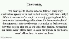 The truth is, we don't get to choose who we fall for.