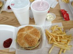 """See 28 photos and 16 tips from 506 visitors to LC's Hamburgers. """"You can ask for a smaller bun on the quarter pound burger - less carbs, no sesame. Cheeseburgers, Hamburgers, Fried Mushrooms, Stuffed Mushrooms, Kansas City Restaurants, Cheese Fries, Pepsi, Ketchup, Onions"""