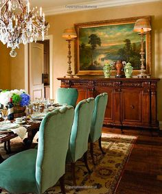 "Betty Lou Phillips. ""We offer French antiques like this enfilade (sideboard) Our clients enjoy her design books for wonderful inspiration"" Carolyn Williams, Antiques Interiors, Atlanta"