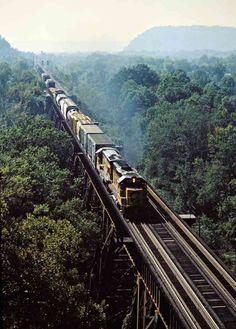 Chesapeake and Ohio Railway by John F. Bjorklund – Center for Railroad Photography & Art Railroad Photography, Art Photography, Portsmouth Ohio, Trains, Diesel, Diesel Fuel, Fine Art Photography, Artistic Photography, Train