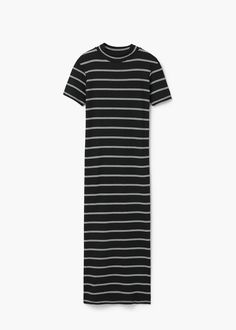 Ribbed long dress | MANGO