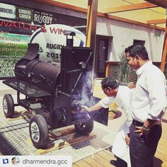 Smoking soon! #JAOceanViewHotel #langbbqsmokers #GirdersGarden #ThankYouForSmoking