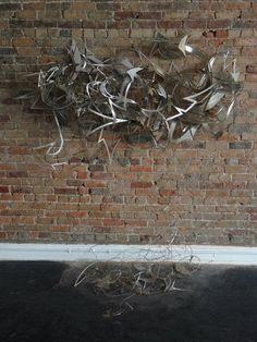 3D metal graffiti sculpture by Mare139