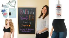 Here are 4 things every first time mommy should buy during her first trimester. 12 week pregnancy chalkboard.