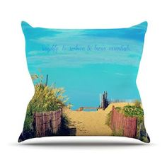 KESS InHouse Simplify by Robin Dickinson Outdoor Throw Pillow