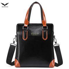 (41.80$)  Buy here  - Genuine Leather POLO Brand Bag Men Laptop Shoulder Bags Business Leather Bag for Men Messenger Men Bag Fashion Crossbody Handbag
