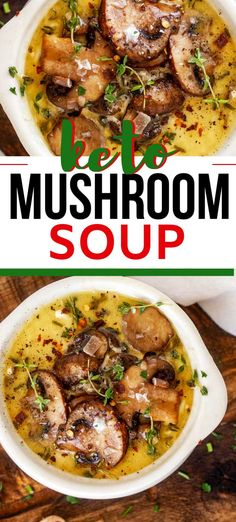I am wild about mushrooms, and this Keto Mushroom Soup is such a treat. Rich and creamy, this is a soup that works great for an easy low carb meal! Informations About Keto Mushroom Soup Recipe Pin You can eas Keto Foods, Healthy Low Carb Recipes, Low Carb Dinner Recipes, Ketogenic Recipes, Keto Recipes, Breakfast Recipes, Dessert Recipes, Keto Dinner, Breakfast Pizza