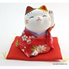 maneki neko | Accueil > Décoration > Maneki neko en kimono Rouge