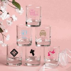 Coed favor-Personalized Shot Glass Favors