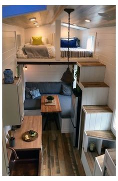 Best Tiny House, Tiny House Plans, Minimaliste Tiny House, Small Rooms, Small Spaces, Kids Rooms, Decor Home Living Room, Tiny House Living, Rv Living