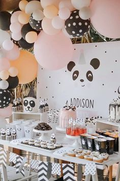 Pink Panda Birthday Party – Home Decoration – Grandcrafter – DIY Christmas Ideas ♥ Homes Decoration Ideas Panda Themed Party, Panda Birthday Party, New Birthday Cake, Birthday Themes For Boys, Panda Party, 1st Birthday Girls, Boy Birthday Parties, Birthday Party Decorations, Circus Birthday