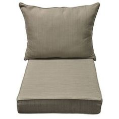 allen + roth Brown/Tan Patio Chair Cushion