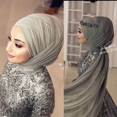 Hijab styles 683632418419407682 - Görüntünün olası içeriği: 2 kişi Source by FEpskin Bridal Hijab, Muslim Wedding Dresses, Hijab Bride, Wedding Hijab, Muslim Dress, Dress Wedding, Muslim Girls, Muslim Women, Muslim Brides