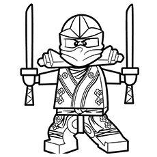 ausmalbild: lego ninjago green ninja | ausmalbilder