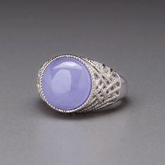 Sterling Silver Purple Jade Ring by Lenox
