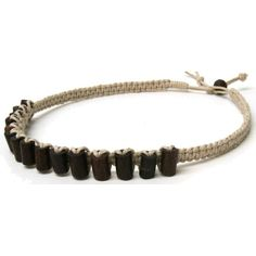 images of hemp jewelry  | Tribal Wood Hemp Necklace - Hemp Necklace Store