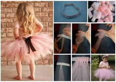 My daughter loves tutu and like dancing with it .Every little princess deserves a pretty tutu. This classic tulle tutu is a perfect project for beginner Diy Tutu, No Sew Tutu, Tutorial Tutu, Robes Tutu, Christmas Tutu, How To Make Tutu, Arts And Crafts, Diy Crafts, Cool Art Projects