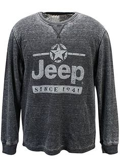 Jeep Vintage Thermal Long Sleeve Tee (XL)
