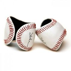 bracelet / cuffs made of genuine leather baseballs