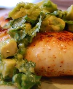 Seared Chicken with Avocado by The Sisterhood of the Shrinking Jeans LLC. Can't get enough of these avocado recipes!