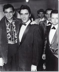 Johnny Cash and Elvis Presley and Colonel Parker