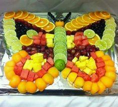Fruit butterfly cakepins com cakepinscom from b Fruit Appetizers, Appetizers For Party, Fruit Dips, Fruit Trays, Fruit Snacks, Best Fruits, Healthy Fruits, Fruit Platter Designs, Fruits Decoration
