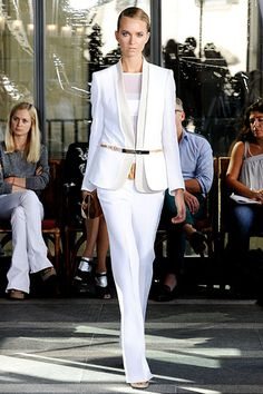 I love white suits---it is my inspiration