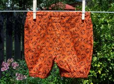 Made in Jack-O-Lantern print in sizes 0-3M, 3-6M, 6-12M, 12-18M, 2T, 3T or 3T.  $15