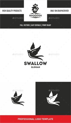 Swallow - Logo Design Template Vector #logotype Download it here: http://graphicriver.net/item/swallow/10346100?s_rank=1258?ref=nexion