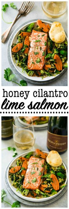 Low Carb Recipes To The Prism Weight Reduction Program This Honey Cilantro Lime Salmon Is Simple, Delicious And Perfect For An Easy Family Meal As Well As Impressive Enough For A Dinner Party. Present With Gloria Ferrer Wine For A Real Stunner Ad Lime Salmon Recipes, Fish Recipes, Seafood Recipes, Salad Recipes, Salmon Recepies, Soup Recipes, Recipies, Clean Eating Recipes, Healthy Dinner Recipes