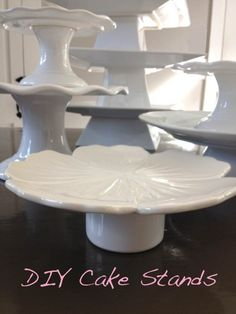 DIY Cake Stands: For Only a Few Dollars, You Can Make a Cake Stand That'll WOW The Hostess.