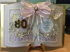 Open book cards tattered lace essential dies made for 80th birthday
