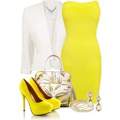 Image result for yellow dress outfits