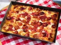 "Detroit-Style Pepperoni Pizza (Family Night In) - Jeff Mauro, ""The Kitchen"" on the Food Network."