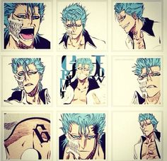 Grimmjow. - My fave villain in this anime. Just because...